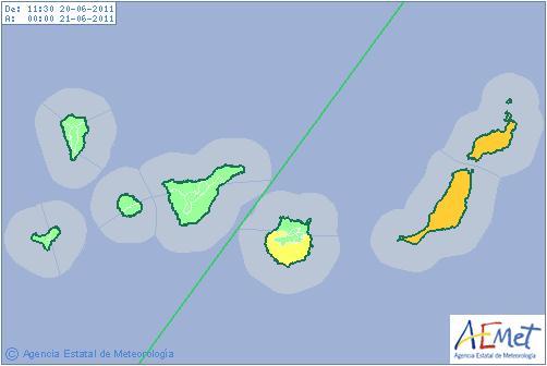weather alert canary islands june 2011